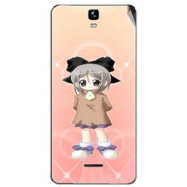 Snooky 46728 Digital Print Mobile Skin Sticker For Micromax Canvas HD Plus A190 - Orange