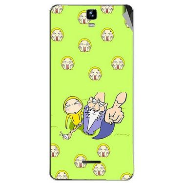 Snooky 46738 Digital Print Mobile Skin Sticker For Micromax Canvas HD Plus A190 - Green