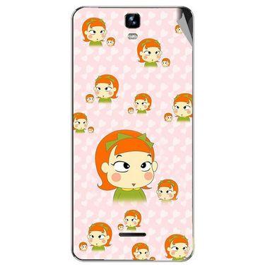 Snooky 46739 Digital Print Mobile Skin Sticker For Micromax Canvas HD Plus A190 - Orange