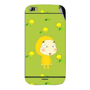 Snooky 46773 Digital Print Mobile Skin Sticker For Micromax Canvas Doodle 2 A240 - Green