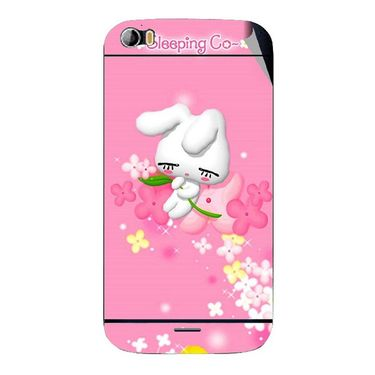 Snooky 46777 Digital Print Mobile Skin Sticker For Micromax Canvas Doodle 2 A240 - Pink