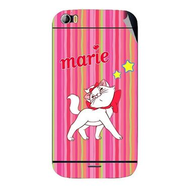 Snooky 46785 Digital Print Mobile Skin Sticker For Micromax Canvas Doodle 2 A240 - Pink