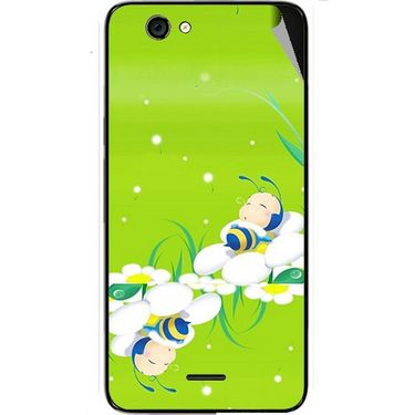 Snooky 46811 Digital Print Mobile Skin Sticker For Micromax Canvas knight cameo A290 - Green