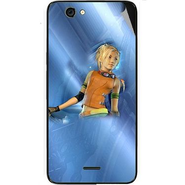 Snooky 46812 Digital Print Mobile Skin Sticker For Micromax Canvas knight cameo A290 - Blue
