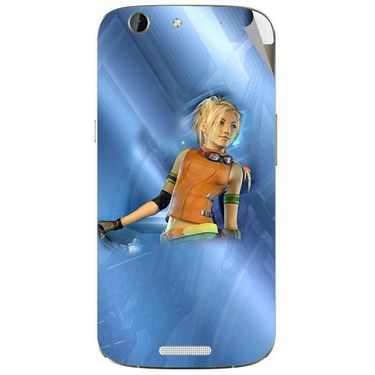 Snooky 46844 Digital Print Mobile Skin Sticker For Micromax Canvas A300 - Blue
