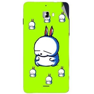 Snooky 46878 Digital Print Mobile Skin Sticker For Micromax Canvas Nitro A310 - Green