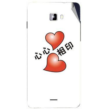 Snooky 46916 Digital Print Mobile Skin Sticker For Micromax Canvas Nitro A311 - White