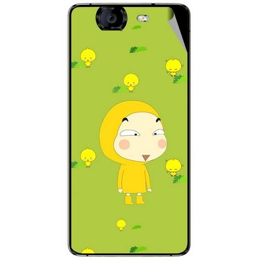 Snooky 46933 Digital Print Mobile Skin Sticker For Micromax Canvas Knight A350 - Green