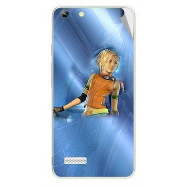 Snooky 46972 Digital Print Mobile Skin Sticker For Micromax Canvas Hue AQ5000 - Blue