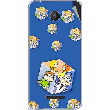 Snooky 47088 Digital Print Mobile Skin Sticker For Micromax Canvas Spark Q380 - Blue