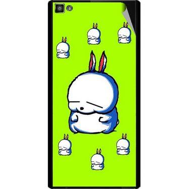 Snooky 47101 Digital Print Mobile Skin Sticker For Xolo Hive 8X-1000 - Green