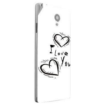 Snooky 47172 Digital Print Mobile Skin Sticker For Xolo A500 Club - White