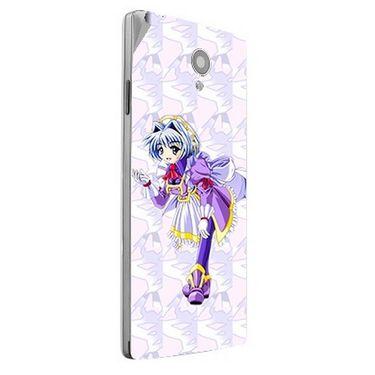 Snooky 47178 Digital Print Mobile Skin Sticker For Xolo A500 Club - Purple