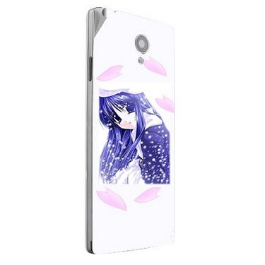 Snooky 47182 Digital Print Mobile Skin Sticker For Xolo A500 Club - White