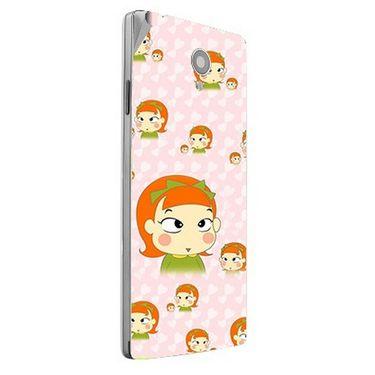 Snooky 47186 Digital Print Mobile Skin Sticker For Xolo A500 Club - Orange