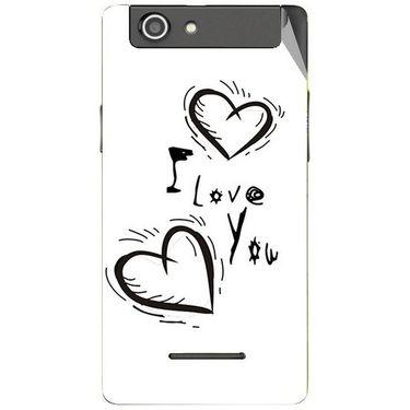 Snooky 47204 Digital Print Mobile Skin Sticker For Xolo A500s - White