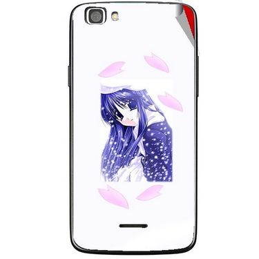 Snooky 47246 Digital Print Mobile Skin Sticker For Xolo A500s Lite - White
