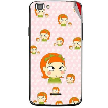 Snooky 47250 Digital Print Mobile Skin Sticker For Xolo A500s Lite - Orange