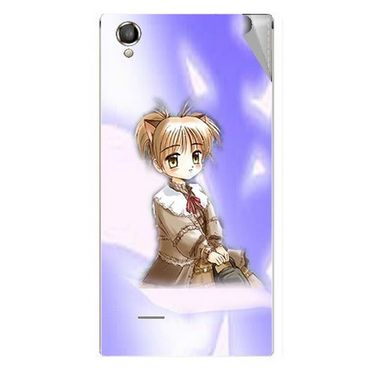 Snooky 47309 Digital Print Mobile Skin Sticker For Xolo A550S IPS - Purple