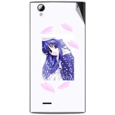 Snooky 47342 Digital Print Mobile Skin Sticker For Xolo A600 - White