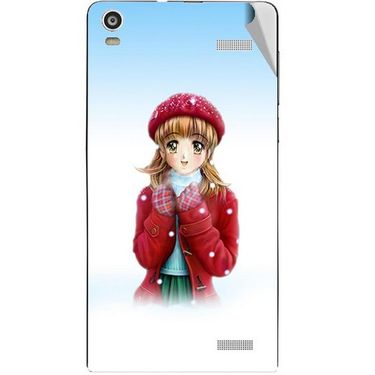 Snooky 47371 Digital Print Mobile Skin Sticker For Xolo A1000S - White