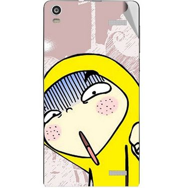 Snooky 47376 Digital Print Mobile Skin Sticker For Xolo A1000S - Multicolour