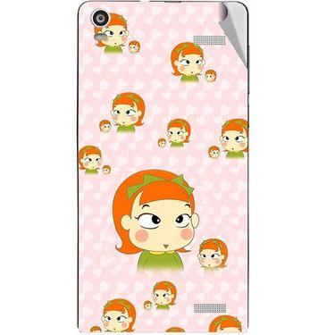 Snooky 47378 Digital Print Mobile Skin Sticker For Xolo A1000S - Orange