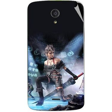Snooky 47420 Digital Print Mobile Skin Sticker For Xolo Omega 5.0 - Blue