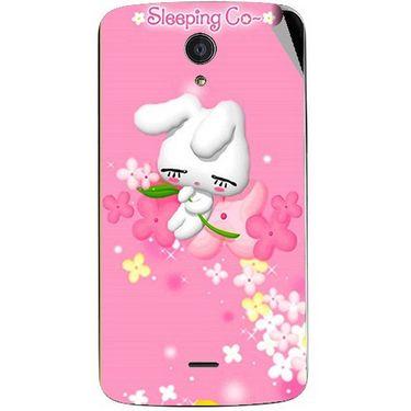 Snooky 47448 Digital Print Mobile Skin Sticker For Xolo Omega 5.5 - Pink