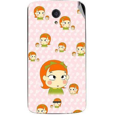 Snooky 47474 Digital Print Mobile Skin Sticker For Xolo Omega 5.5 - Orange