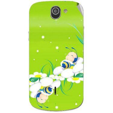 Snooky 47514 Digital Print Mobile Skin Sticker For Xolo Q600 - Green