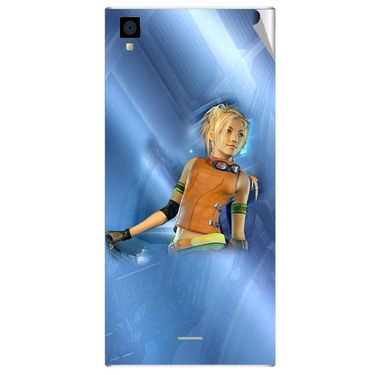 Snooky 47547 Digital Print Mobile Skin Sticker For Xolo Q600s - Blue