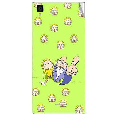 Snooky 47569 Digital Print Mobile Skin Sticker For Xolo Q600s - Green