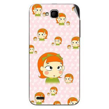 Snooky 47698 Digital Print Mobile Skin Sticker For Xolo Q800 - Orange