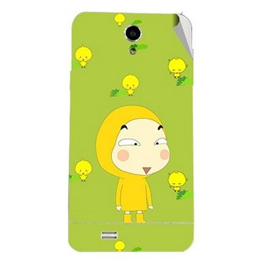 Snooky 47700 Digital Print Mobile Skin Sticker For Xolo Q900 - Green