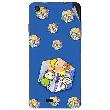 Snooky 47759 Digital Print Mobile Skin Sticker For Xolo Q900S - Blue