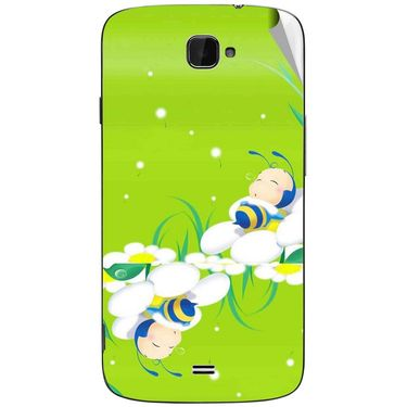 Snooky 47802 Digital Print Mobile Skin Sticker For Xolo Q1000 Opus - Green