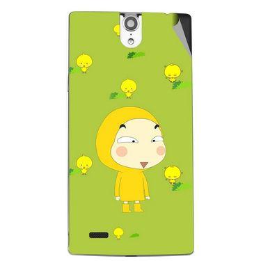 Snooky 47828 Digital Print Mobile Skin Sticker For Xolo Q1010i - Green