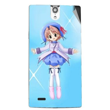 Snooky 47846 Digital Print Mobile Skin Sticker For Xolo Q1010i - Blue