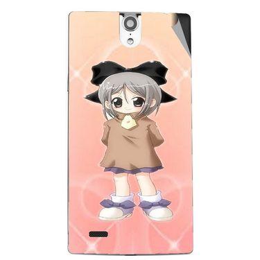 Snooky 47847 Digital Print Mobile Skin Sticker For Xolo Q1010i - Orange