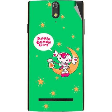 Snooky 47863 Digital Print Mobile Skin Sticker For Xolo Q1020 - Green
