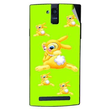 Snooky 47906 Digital Print Mobile Skin Sticker For Xolo Q2000 - Green