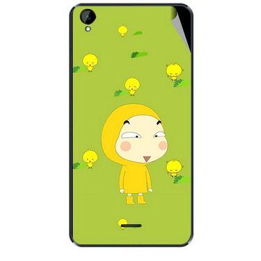 Snooky 47924 Digital Print Mobile Skin Sticker For Xolo Q2000L - Green