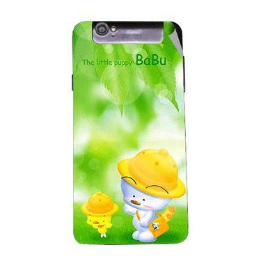 Snooky 47961 Digital Print Mobile Skin Sticker For Xolo Q3000 - Green