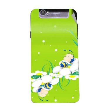 Snooky 47962 Digital Print Mobile Skin Sticker For Xolo Q3000 - Green