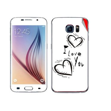 Snooky 48227 Digital Print Mobile Skin Sticker For Samsung Galaxy S6 - White