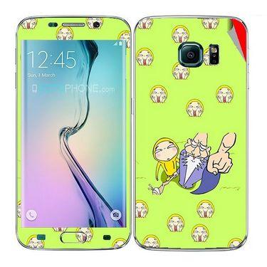 Snooky 48272 Digital Print Mobile Skin Sticker For Samsung Galaxy S6 Edge - Green