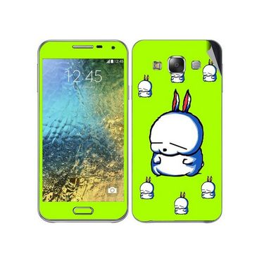Snooky 48284 Digital Print Mobile Skin Sticker For Samsung Galaxy E7 - Green