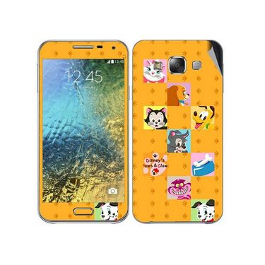 Snooky 48286 Digital Print Mobile Skin Sticker For Samsung Galaxy E7 - Yellow