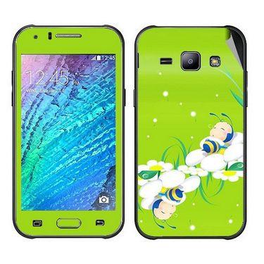 Snooky 48313 Digital Print Mobile Skin Sticker For Samsung Galaxy J1 - Green